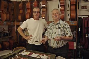 Bernd Etzler and Péter Benedek in his workshop in Munich